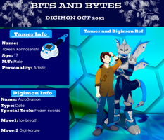 Bits and Bytes Application: Takeshi 'n' AuroDramon by G3Drakoheart-Arts