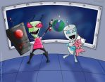 Mission Complete - Invader Zim, Prize art by thesnakechild