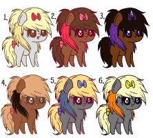 Chibi Scene Pony Adopts 3 ::ONE LEFT:: by Icon-Adopts