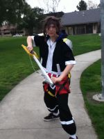 sora with the derp fail wig by SasuInsanity