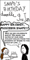 Snape's birthday doodle by SunnySorceress