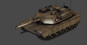 ABRAMS M1A1 TANK FULLY POSEABLE by Oo-FiL-oO