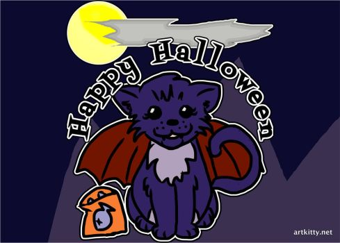 Happy Halloween Meow by lorikitty