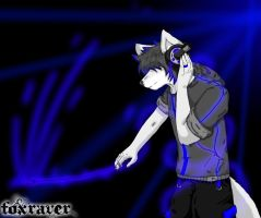 Furry Rave Wolf by FoxRaver