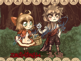 OPEN! Little Red and the Wolf Adoptables! by Sweet-Sisters