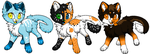 30 - 50 point Cat adoptables (3/3 open) by Fluffy-fish-llama