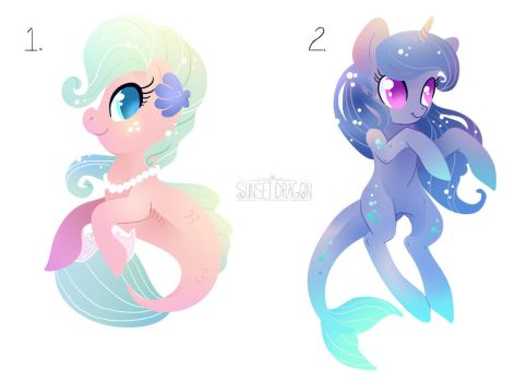 OC Auction: Seaponies by Flying-Fox