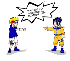 naruto and sasuke mixup? by hermitboi