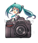 -- Commission : Photographer Miku 02 -- by Kurama-chan