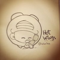 paper sketches .. Hot wings by WisdomSeven