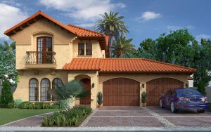 Spanish Style Home (Front) by ArchDigital