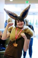 Aki-con 2009 - Eevee Gijinka by mintifresh
