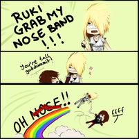 RUKI GRAB MY NOSE BAND by fewly