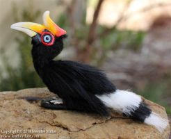 Reyliss, the Rhinoceros Hornbill by Nambroth