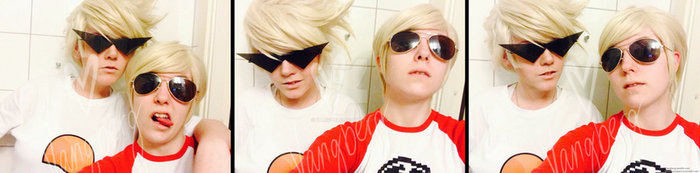 Dirk and Dave Strider cosplay test by vangberg