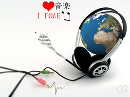 The World Listening to Musicc by ClickRCl