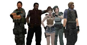 Resident Evil 1 crew-picture by xUmbrellaCo