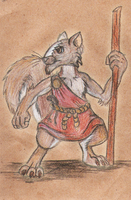 Dare myth to draw : Redwall : Tarquin Sprucetail by Myth-Dragon