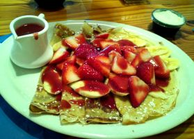 Strawberry Crepes by melissrrr