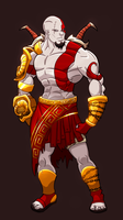 Kratos (god of war) by ninjakimm
