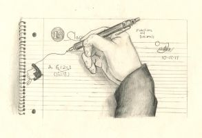 My hand in math class by luigiforbrawl765