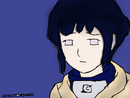 Hinata Lineart Colored Version by ChaoticDarkAngel