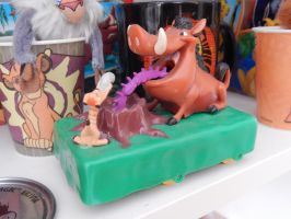 Lion King Timon And Pumbaa Figure by OliveTree2
