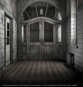 Free Background - Old Hospital by ArtReferenceSource