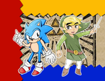 Classic Sonic and Toon Link by Gazizaty