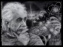 Albert Einstein - Quasar by jamesdangerharvey