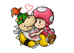 PC: Bowser Jr. and Toadette by SuperLakitu