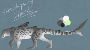 Snowleopard Shark Paypal Adopt $5.00 OPEN by Ayla-Evans