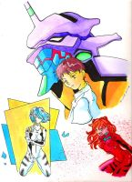 Evangelion you are not alone by raccoon-eyes