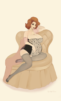 Mayternity Through Time: 1950's USA by OfaMightDivine