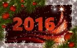 Happy New Year 2016 Greeting Card by Lacerem