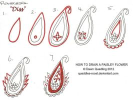How to draw Paisley Flower 22 Diss by Quaddles-Roost
