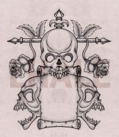 threeskull by Lhale