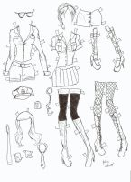 poserdoll clothes cop by electricjesuscorpse