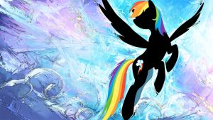 Rainbow Dash Wallpaper by GenjiLim