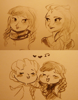 India Ink Bb Sisters by maybelletea