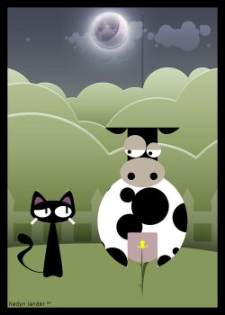 The cat and the cow by raven8t8