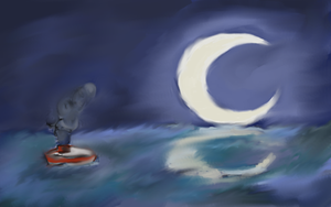 The Sea and Night by artloverrsnp