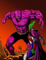 Despero Vs. J'Onn by AdamTupper