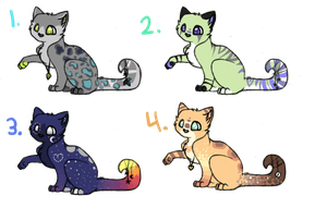 Kitty point adoptables (closed) by C0SMii