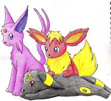 Eeveelutions by Dannichu