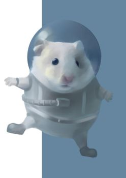 hamster is an astronaut by ElenaNaylor