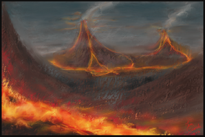 Lava mountains by Polysics