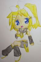 Kagamine Rin Watercolor (re-upload) by supermuffinslayer