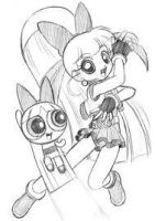 Blossom from PPG and Blossom from PPGZ by Fantasygalore3