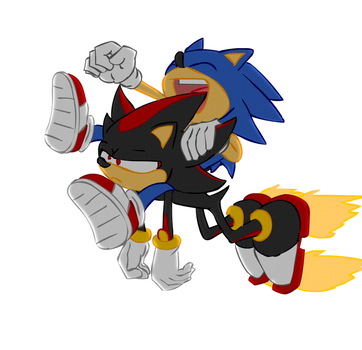 sonic drives shadow depressed by miguy99